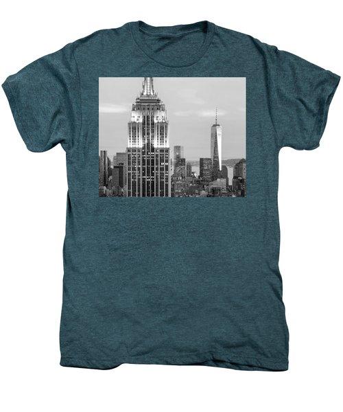 Iconic Skyscrapers Men's Premium T-Shirt by Az Jackson