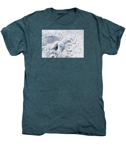 Life's A Beach By Sharon Cummings Men's Premium T-Shirt by Sharon Cummings