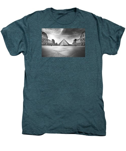 Louvre Bw Men's Premium T-Shirt by Ivan Vukelic