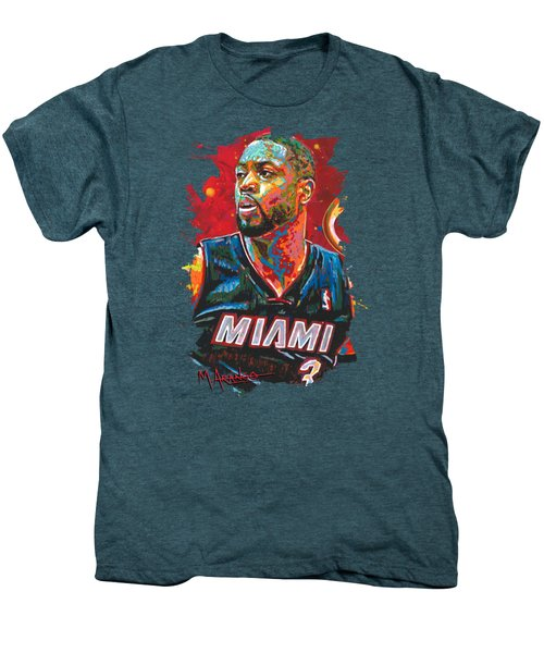 Miami Heat Legend Men's Premium T-Shirt by Maria Arango