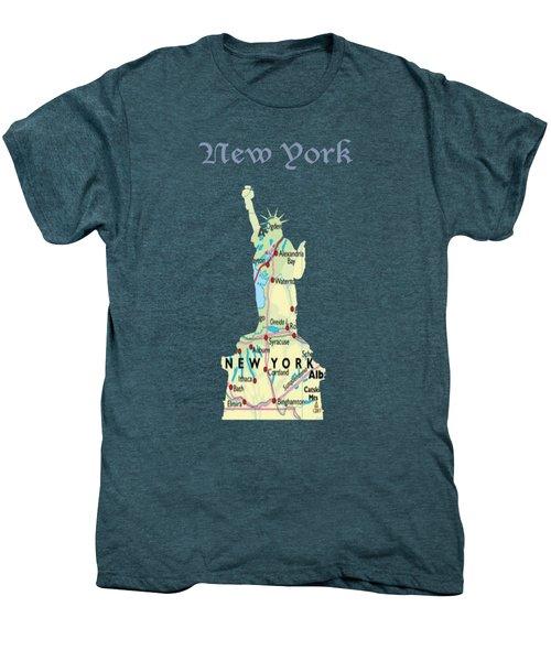 New York Men's Premium T-Shirt by Art Spectrum