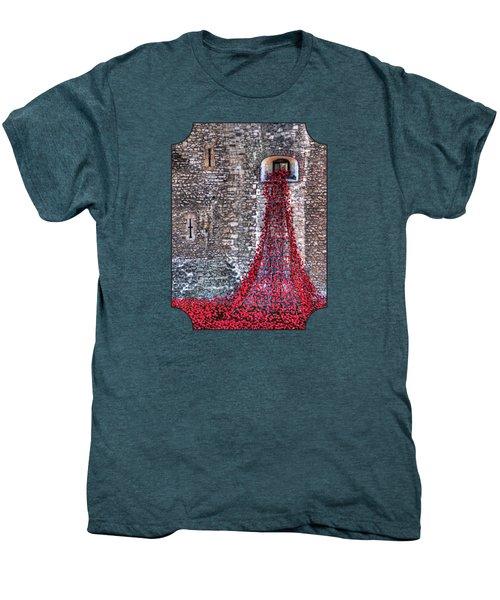 Poppy Cascade Men's Premium T-Shirt by Gill Billington