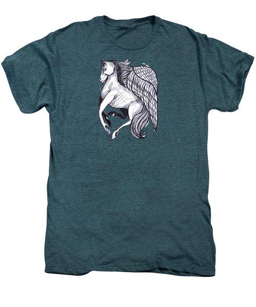 Save The Wild Mustangs Men's Premium T-Shirt by Joanna Whitney