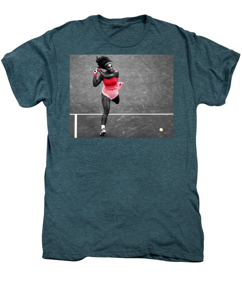 Serena Williams Strong Return Men's Premium T-Shirt by Brian Reaves