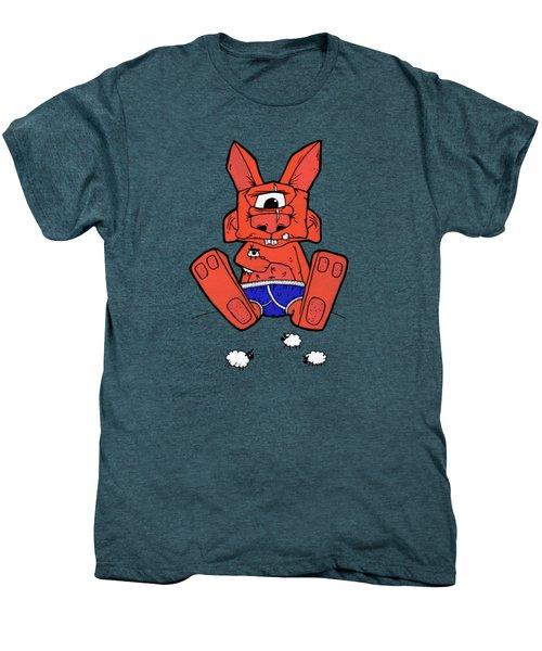 Uno The Cyclops Bunny Men's Premium T-Shirt by Bizarre Bunny