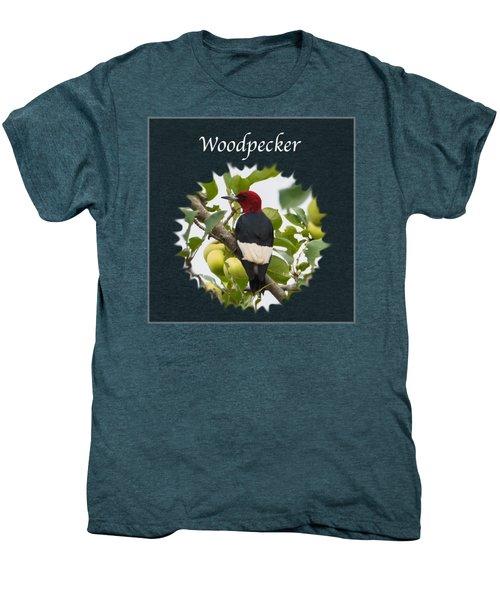 Woodpecker Men's Premium T-Shirt by Jan M Holden