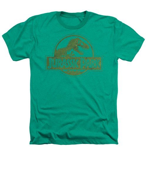 Jurassic Park - Distressed Logo Heathers T-Shirt by Brand A