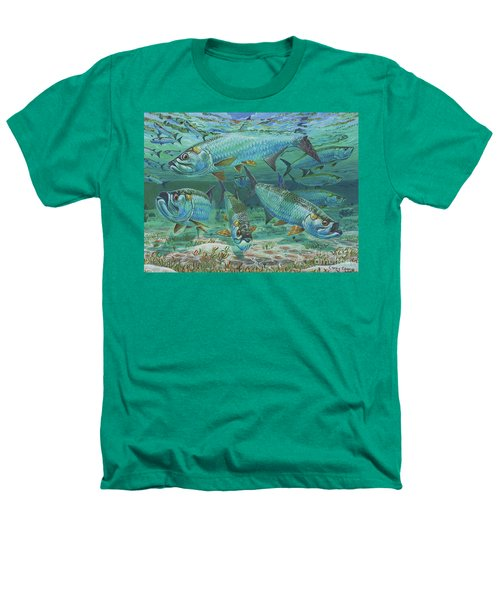 Tarpon Rolling In0025 Heathers T-Shirt by Carey Chen