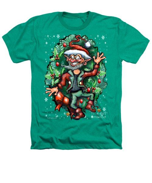Christmas Elf Heathers T-Shirt by Kevin Middleton