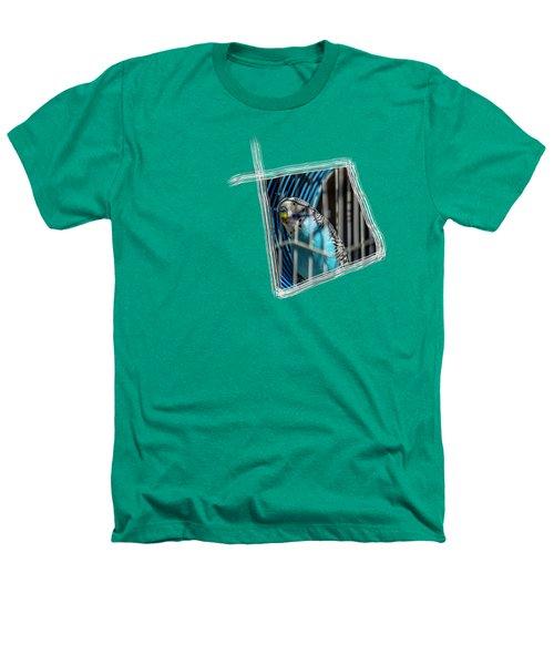 Blue Bird Heathers T-Shirt by Aissa Belbaz
