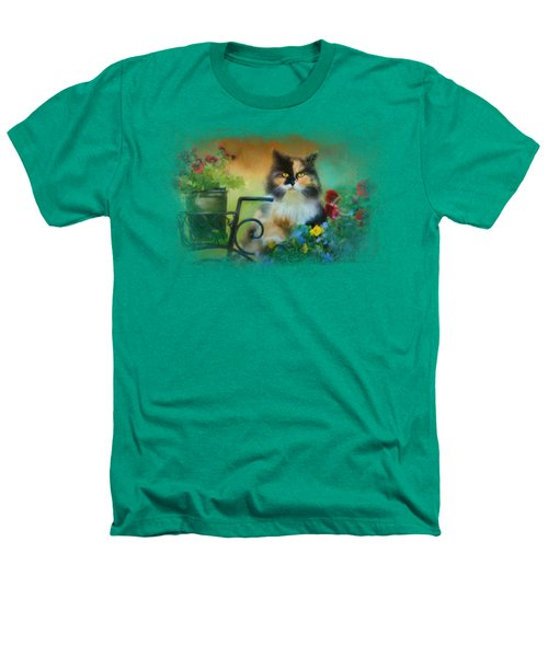 Calico In The Garden Heathers T-Shirt by Jai Johnson