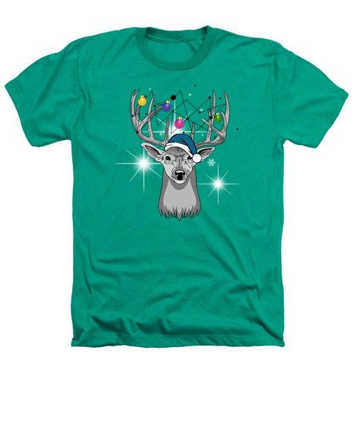 Christmas Deer Heathers T-Shirt by Mark Ashkenazi