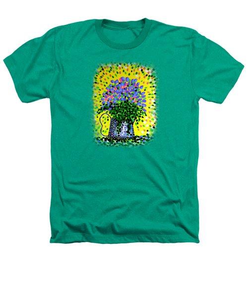Explosive Flowers Heathers T-Shirt by Alan Hogan