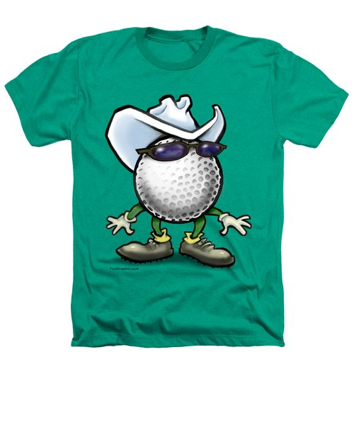 Golf Cowboy Heathers T-Shirt by Kevin Middleton
