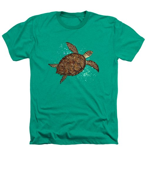 Hawksbill Sea Turtle Heathers T-Shirt by Amber Marine