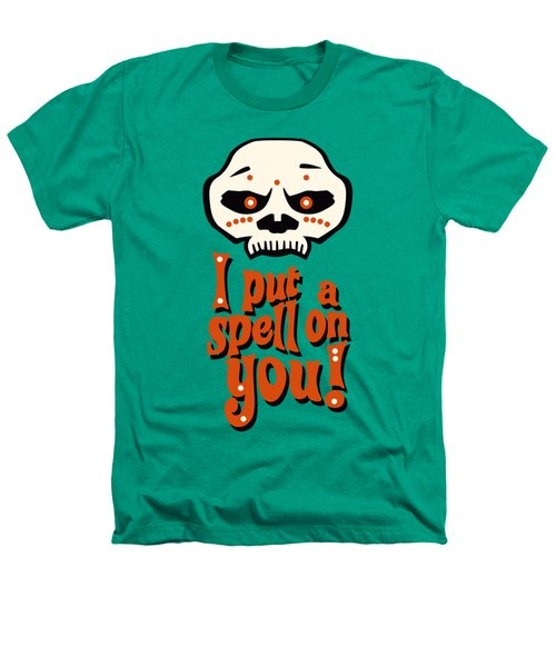 I Put A Spell On You Voodoo Retro Poster Heathers T-Shirt by Monkey Crisis On Mars