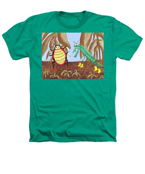 Lucy And Pablo Need A Garden Heathers T-Shirt by Jan Watford