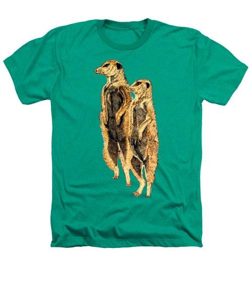 Meerkats Heathers T-Shirt by Teresa  Peterson