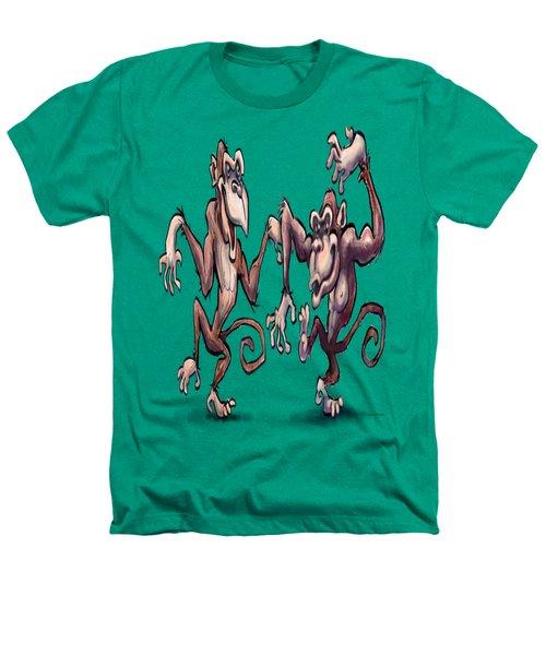 Monkey Dance Heathers T-Shirt by Kevin Middleton