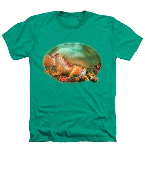 Unicorn Of The Roses Heathers T-Shirt by Carol Cavalaris