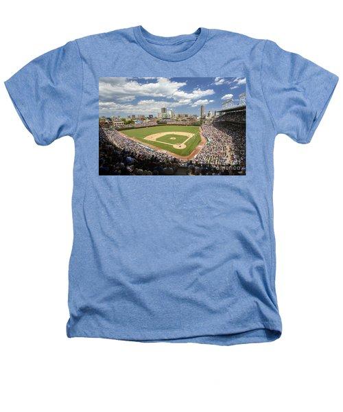 0415 Wrigley Field Chicago Heathers T-Shirt by Steve Sturgill