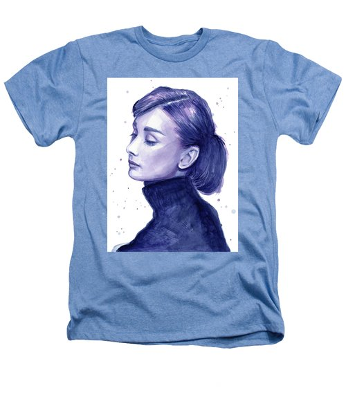 Audrey Hepburn Portrait Heathers T-Shirt by Olga Shvartsur