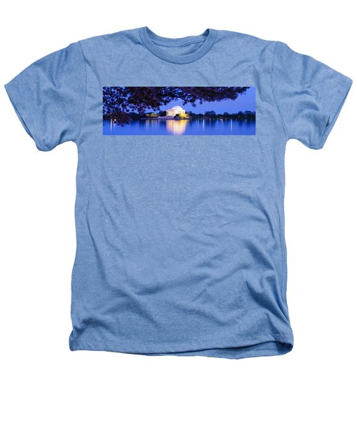 Jefferson Memorial, Washington Dc Heathers T-Shirt by Panoramic Images