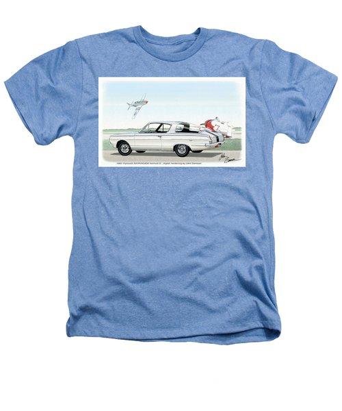 1965 Barracuda  Classic Plymouth Muscle Car Heathers T-Shirt by John Samsen