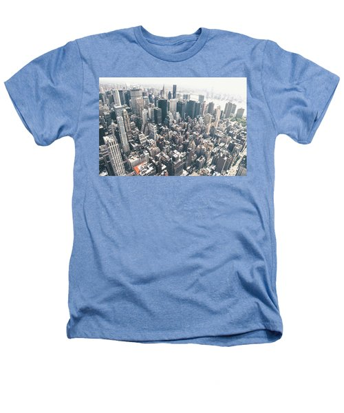New York City From Above Heathers T-Shirt by Vivienne Gucwa