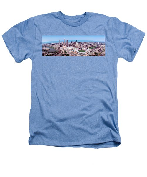 Aerial View Of Jacobs Field, Cleveland Heathers T-Shirt by Panoramic Images