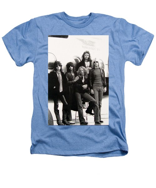 Aerosmith - Eurofest Jet 1977 Heathers T-Shirt by Epic Rights