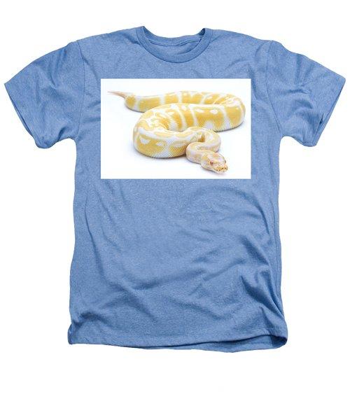 Albino Royal Python Heathers T-Shirt by Michel Gunther