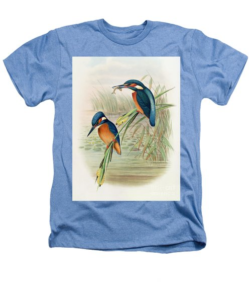 Alcedo Ispida Plate From The Birds Of Great Britain By John Gould Heathers T-Shirt by John Gould William Hart