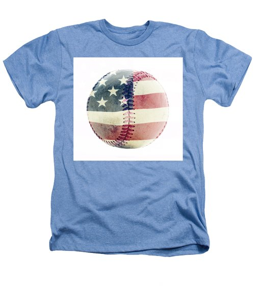 American Baseball Heathers T-Shirt by Terry DeLuco
