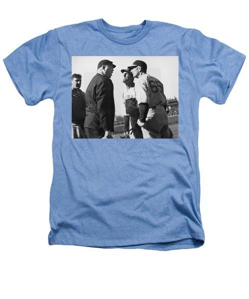 Baseball Umpire Dispute Heathers T-Shirt by Underwood Archives