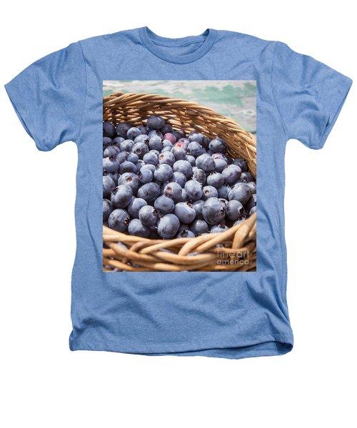Basket Of Fresh Picked Blueberries Heathers T-Shirt by Edward Fielding