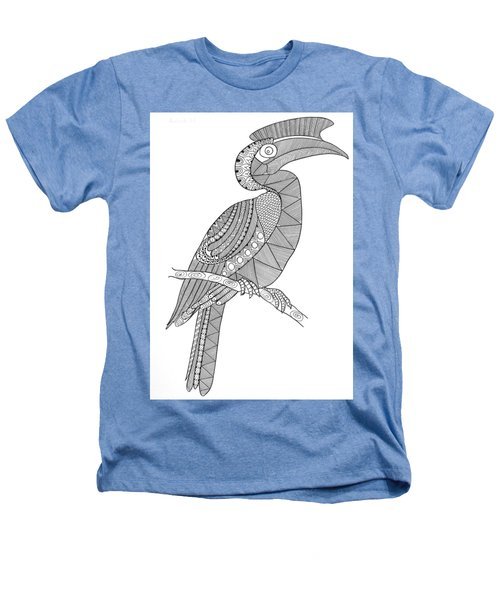 Bird Hornbill Heathers T-Shirt by Neeti Goswami