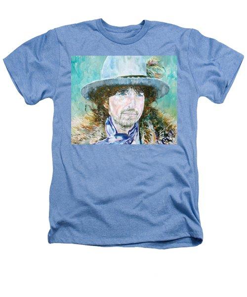 Bob Dylan Oil Portrait Heathers T-Shirt by Fabrizio Cassetta