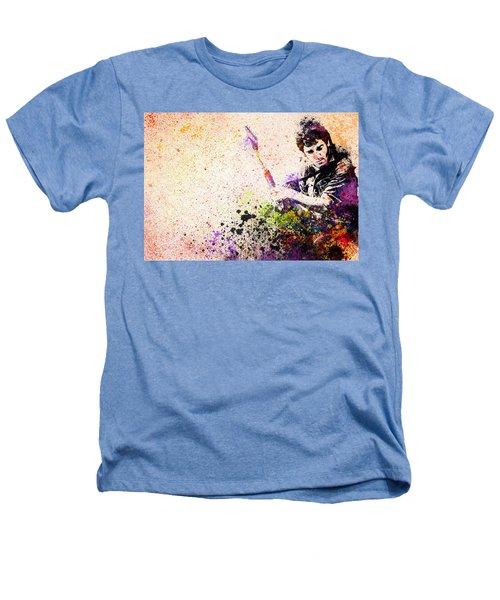 Bruce Springsteen Splats 2 Heathers T-Shirt by Bekim Art