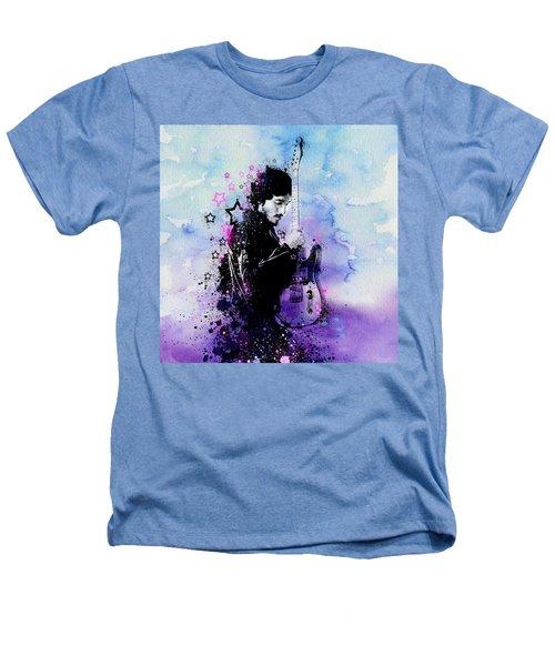 Bruce Springsteen Splats And Guitar 2 Heathers T-Shirt by Bekim Art