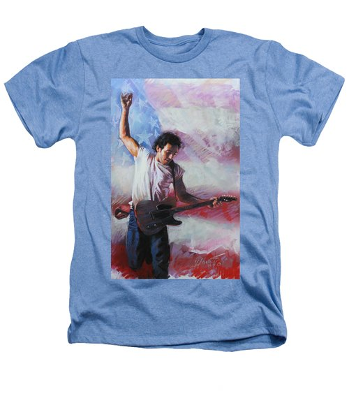 Bruce Springsteen The Boss Heathers T-Shirt by Viola El