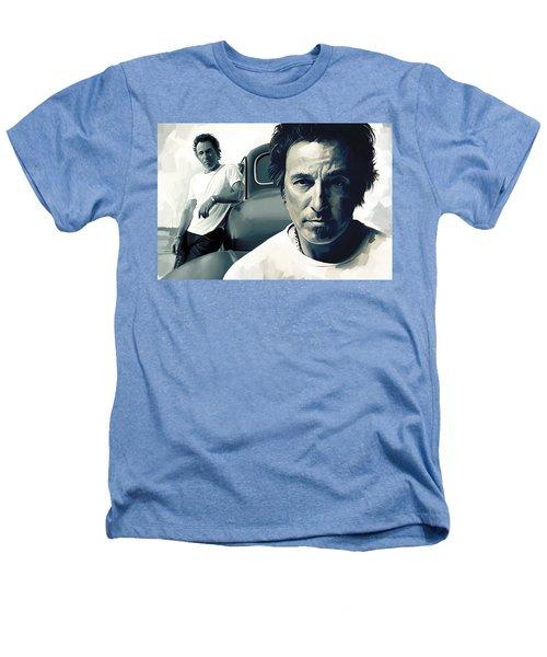 Bruce Springsteen The Boss Artwork 1 Heathers T-Shirt by Sheraz A