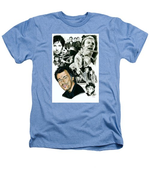 Bruce Springsteen Through The Years Heathers T-Shirt by Ken Branch