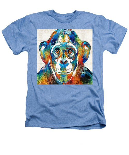 Colorful Chimp Art - Monkey Business - By Sharon Cummings Heathers T-Shirt by Sharon Cummings