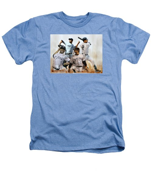 Core  Derek Jeter Mariano Rivera  Andy Pettitte Jorge Posada Heathers T-Shirt by Iconic Images Art Gallery David Pucciarelli