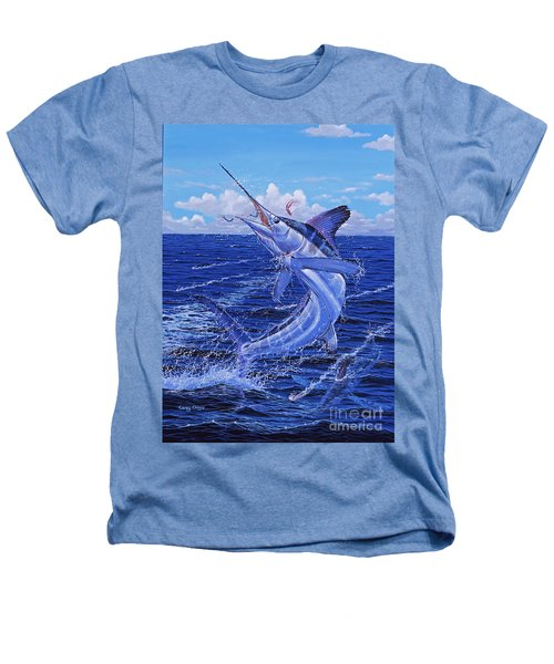 Flat Line Off0077 Heathers T-Shirt by Carey Chen