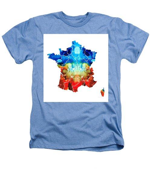 France - European Map By Sharon Cummings Heathers T-Shirt by Sharon Cummings