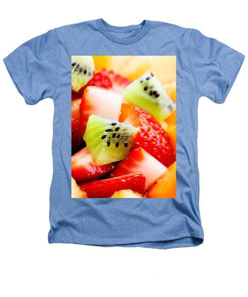 Fruit Salad Macro Heathers T-Shirt by Johan Swanepoel
