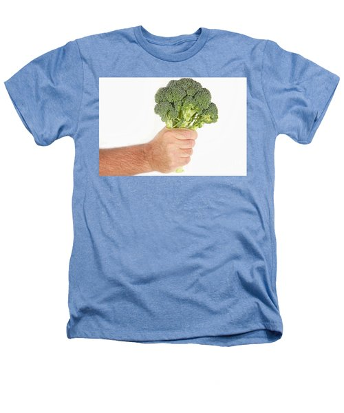 Hand Holding Broccoli Heathers T-Shirt by James BO  Insogna