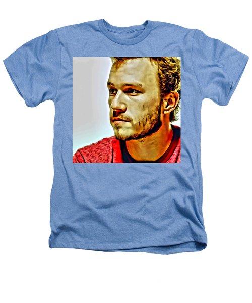 Heath Ledger Portrait Heathers T-Shirt by Florian Rodarte